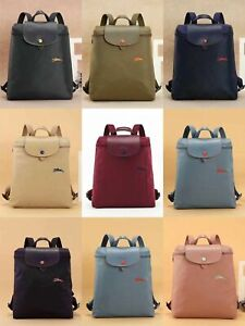 New Longchamp Le Pliage Club 1699 backpack with Embroidered horse Nylon Bag