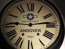 USAAF Style, RAF Andover, Souvenir Vintage Style Wall Clock, WW2 Ninth Air Force