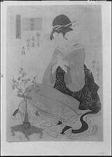 Japanese painting,artwork,figures,women,clothing,reproduction,Arnold Genth 6254