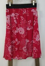 Lularoe women M Lola midi A-Line skirt red floral