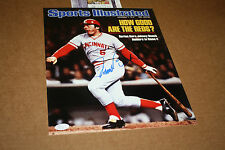 CINCINNATI REDS JOHNNY BENCH SIGNED 11X14 PHOTO 1976 WS MVP SPORTS ILLUSTRATED
