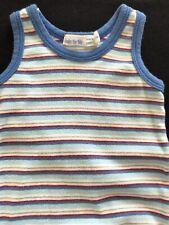 Under the Nile (Egypt) Organic Cotton Blue Striped Bodyshirt - 0-3 Months