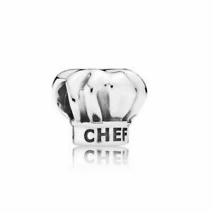 Genuine Pandora Sterling Silver I Love Cooking Chef Hat Charm 791500 Retired