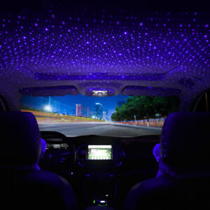 1x Car Accessories Interior USB Atmosphere Star Sky Lamp Ambient Night Light