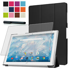 9H Hartglas Folie+ Tasche f. Acer Iconia One 10 (B3-A40 B3-A42) 10.1 Etui Case-3