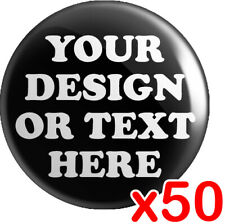More details for 50 x custom 25mm badges | personalised bespoke button badge | wedding stag hen