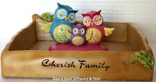 """Pink & Blue Inspirational Worded Owl Napkin Serviette """"Gifted Series"""""""