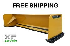 8' Xp24 snow pusher Bobcat Case Caterpillar Free Shipping-Rtr skidsteer