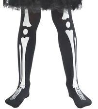 Niñas y Niños Disfraz de Halloween Esqueleto Estampa Medias 4-9 Años de Smiffys