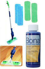 Refillable Spray Mop Kit with 4 Microfiber Mop Pads+Bona Concentrate Cleaner 4oz