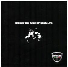 Neco Scooters 2010-11 UK Market Foldout Sales Brochure Abruzzi Agira Borsalino