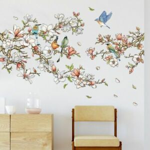 Wall Stickers Magnolia Lark Removable Decals Bedroom Sofa Background Mural Decor