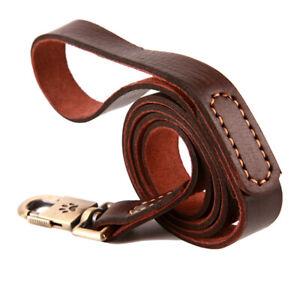 New Top Quality Handmade Genuine Real Leather Dog Leash Lead 130cm x 2.5cm