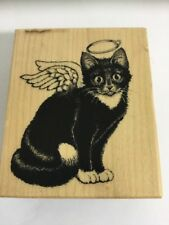 Brand New Unused PSX Kitty Angel F-1322 Wood Mounted Rubber Stamp