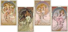 Alphonse Mucha - The Arts - 4 11x17 inch Art Nouveau Poster Set