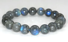 Natural 10mm Beauty Labradorite Gemstone Grade AA Round Bracelet 7.5""