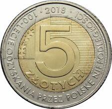 5 zl 2018 - Polen - Hundertjahrfeier der Wiedererlangung der Unabhängigkeit