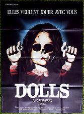 1987 DOLLS Stuart Gordon HORROR French 47x63 movie poster