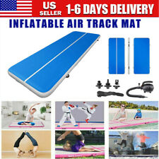 Air Track Floor Gymnastics Inflatable Balance Tumbling Home Gym Train Mat+Pump