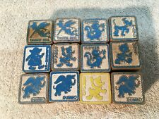 Vtg DISNEY  Wood Alphabet Picture BLOCKS 1940s 50s Childrens Kids 12pc  LOT Toy