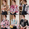 Elegant Women Button Down Shirt Business Career Work Long Sleeve Fall Blouse Top