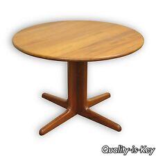 "42"" Round Sun Furniture Mid Century Modern Danish Style Solid Teak Dining Table"