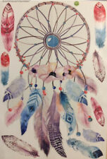 DREAM CATCHER wall sticker 10 decals feather Native American colorful room decor