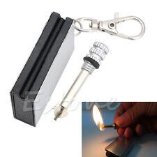 3 X Stainless Steel Permanent Fire Metal Match Lighter NEW