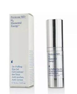 NEW Perricone MD Eye Treatments H2 Elemental Energy De-Puffing Gel 15ml / 0.5 fl