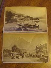 Switzerland A. Garcin Lot of 15 Cabinet Card Photos Victorian Era Suisse Savoie