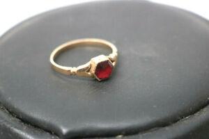 585.Gold Granat Ring Österreich Ungarn um 1880