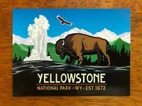 "Yellowstone US National Park Old Faithful Geyser 3"" x 4"" Sticker Laptop Decal"