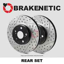 [REAR SET] BRAKENETIC PREMIUM Drilled Slotted Brake Disc Rotors BNP34110.DS