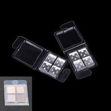 2 Set Empty Eyeshadow Palette Grade Plastic Pans With 15*15mm Aluminium Cases YL