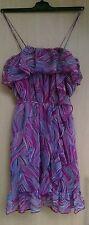 LIPSY Sommerkleid Minikleid Kleid Mini UK8 36 NEU UVP149€ Reine Seide apart