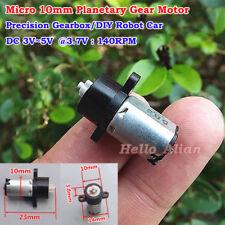 Micro 10mm Planetary Gear Motor DC 3V 3.7V 5V 140RPM Precision Gearbox DIY Robot