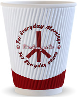 WHOPPING 100 Strong Multi-purpose Disposable Paper Cups 12oz/360ml Triple Walled