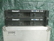 2 - Stewart World 1.6 Power Amplifiers. Working as they should. Lite weight.