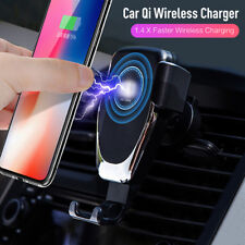 10W Qi Wireless Automatic Clamping Fast Car Charger Mount Holder Stand Universal