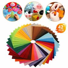 40Pcs Mixed Color Soft Non-woven Felt Fabric Sheets DIY Craft Patchwork Square