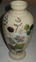"Antique/Vintage 19th Century Glass Vase, Hand Painted Flowers 10"" Height - #2"