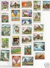POSTES LAO | LAOS 25 DIFFERENT THEMATIC STAMPS  FOR COLLECTION ALL LARGE