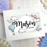 PERSONALISED BABY KEEPSAKE BOX  | WHIMSICAL | CHRISTENING MEMORY BOX LARGE