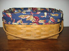 NEW Longaberger Early Harvest OTE Liner 4 Your Lunch Box Basket - Fits 2015 Too!