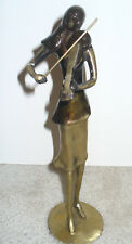 Bronze Standing Violin Player Sculpture Statue Figure Music Gift Orchestra Large