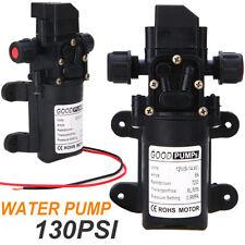 12v 130psi 6lmin Water High Pressure Diaphragm 70w Self Priming Pump Plastic