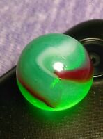 "Dragon Blood / Oxblood PELTIER NLR Marble King CLAMP 7UP VINTAGE Marbles .60"""