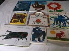Eric Carle Picture Books Lot Of 9 Pancakes Tiny Seed Tell Time with Busy Spider!