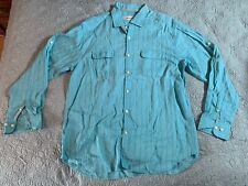 Tommy Bahama Monte Carlo Long Sleeve. Color Lucky Blue. Size Large