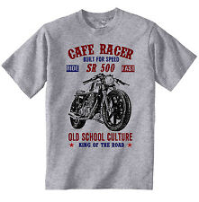 VINTAGE JAPANESE MOTORCYCLE YAMAHA SR 500 CAFE RACER - NEW COTTON T-SHIRT